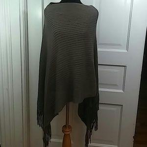 Sweaters - Brown Sweater Poncho